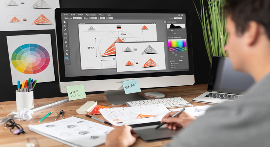Graphic design for virtual events
